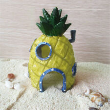 SpongeBob Aquarium Pineapple House Fish Tank Decoration Figurine Plant Fun