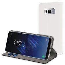 Muvit Etui Folio Stand Blanc pour Samsung Galaxy S8 Plus