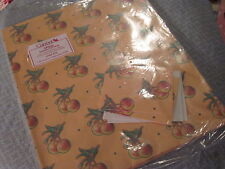 EVERYDAY Gift Wrap Wrapping Paper CURRENT 2 Sheets APPLES Orange Red Green 1755