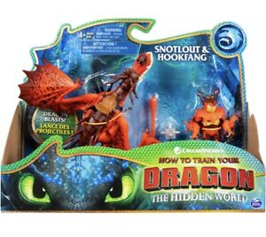 DreamWorks Dragons Hookfang and Snotlout Dragon with Armored Viking Figure NEW