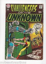 Dc Comics Challengers Of The Unknown. # 68. From July 1969. Vg +. Free Shipping.