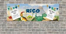 PVC Birthday Banner Personalised - Dinosaurs