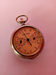 VINTAGE POCKET WATCH SHAPED MAP READER, IN FEET & INCHES