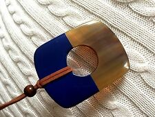 Authentic Buffalo Horn Pendant Lift with Blue Lacquer