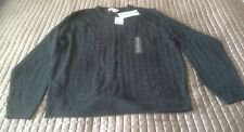 Geoffrey Beene Mens Black Cable Knit Swaeter XL New 007