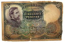 BILLETE DE 50 PESETAS DE 1931 (RC) ROSALES (SIN SERIE)