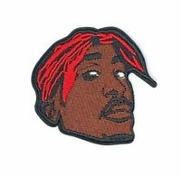 2Pac Iron On Patch : Tupac Shakur : Makaveli : Hip Hop Rap Rapper : Embroidered