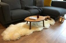 Double Natural XXL Sheepskin Rug White Sheepskin Long Soft Wool