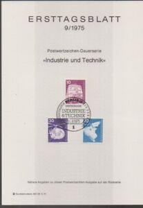 Ersttagsblatt 9/1975 Industrie und Technik