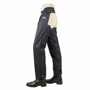Rambo Waterproof Full Leg Waterproof Fleece Lined Childs Chaps - Navy Size 7- 9