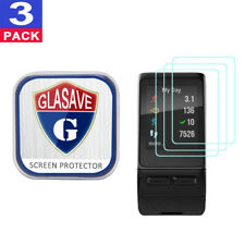 (3 Pack) GLASAVE Garmin Vivoactive HR Tempered Glass Screen Protector Clear Film