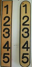 ADDRESS PLAQUE, Address Sign, Mailbox Numbers, House Number, Carved CEDAR 5 #
