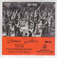 """VOLKSOPERNORCH Wiener Vinyle 45T EP 7"""" AN DER SCHÖNEN BLAUEN.. STRAUSS  COLUMBIA"""