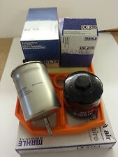 VW Golf MK4 1.4 1390cc  Oil Air fuel Filter Service Kit Genuine Mahle  1997-2007