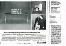 PUBLICITE  1969   RANK XEROX  660   reprographie (2 pages)