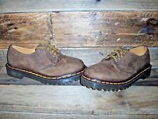 Women's Dr. Martens Brown Leather Shoes Size 5 UK  7 US Made England Doc Martin