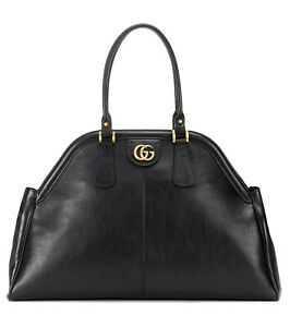 NWT Gucci Women's Re (belle) X Large Leather Top Handle Tote Bag Black