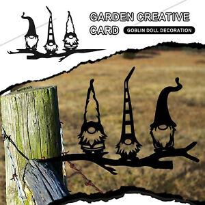 Steel Branch Gnomes Decoration Metal Tree Art Metal Gnomes Garden Steel Silver