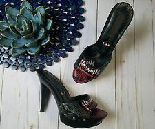 Iron Fist Werewolf Growler LADIES  Platform Mule Heels Shoes SIZE 40 9 EUC