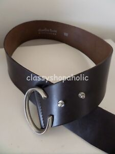 Hamilton Davis Dark Brown Leather (?)  100cm Belt - BNWOT