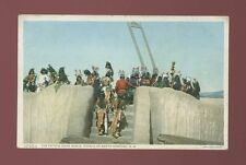 USA ethnic native American INDIANS Pueblo The Estufa Corn Dance c1930/40s? PPC