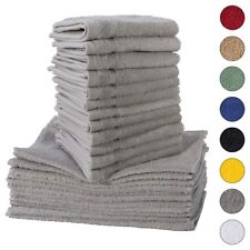 NEW GRAY Color ULTRA SUPER SOFT LUXURY PURE TURKISH 100% COTTON WASHCLOTHS