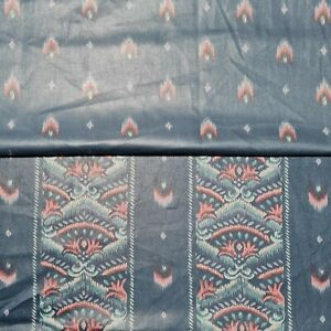 """Cotton Upholstery Fabric Ikat Combination Sofa Curtain 55"""" Wide"""