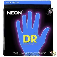 DR Strings NBB5-45 Neon Blue 5-String Coated Medium Bass Guitar Strings (45-125)