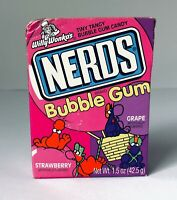 Vintage 1996 Willy Wonka BUBBLE GUM NERDS Box Candy Container SEALED MINTY