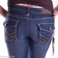 Womens Jeans Free Culture Dark Distressed Denim NWT Sz 3 30 x 33 SLim SKinny