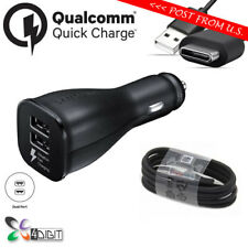 Genuine Original Samsung Galaxy A3 A5 A7 2017 FAST CHARGE Car Charger+USB Cable