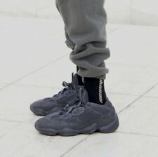 Authentic Adidas Yeezy 500 Utility Black Low Top Sneakers 8 F36640