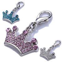 Bling Rhinestones Pet Tag Dog Collar Charms Crystal Pendants Puppy Dog Supplies