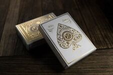 White Artisan Playing Cards - Theory11 Deck - Magic Tricks - New