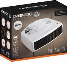 Daewoo Pequeño Silencioso portátil potente Calentador de Piso Eléctrico de 3KW 3000W & Ventilador De Escritorio