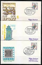 Germany 1986 set of 3 covers NAJUBRIA 86 Stamps exhibition