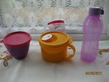 ^ New Tupperware Crystalwave Microwave Cereal Mug + Bottle + Bowled Over Jar