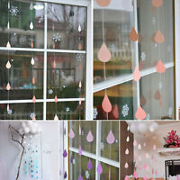 1.2M Gradient Color Drip-drop Hanging Paper Garland String Hom Party Decoration