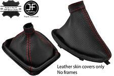 Funda para palanca de cambios y freno de mano color negro material italiano de cuero con costuras rojas para autom/óviles Alfa Romeo GTV SPIDER 1998-2005