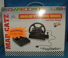Mad Catz Steering Wheel, Accelerator, & Brake For Playstation Gaming System *NEW