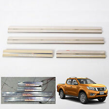 LED Chrome Stainless Sill Scuff Plate Fit Nissan Navara NP300 Pickup 2014 #