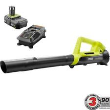 One + 90Mph 200 Cfm 18V Lithium-Ion Cordless Leaf Blower 2.0Ah Battery & Charger