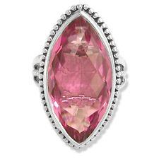"""Offerings Sajen 925 Ss Celestial Pink """"Kunzite"""" Quartz Love Ring Size 8"""