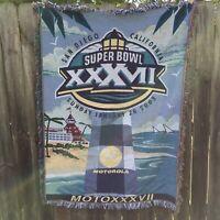 "Super Bowl XXXVII Throw Blanket The Northwest Company 100% Acrylic 44"" x 60"""