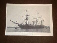 Anno 1902 Veliero Amerigo Vespucci nella rada di Kiel Germania