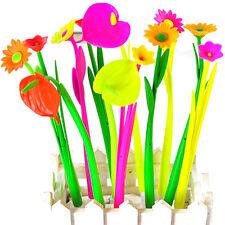 6pcs/lot Style Popular Stationery Gift Lovely Flowers Grass Gel Pen Sign Pen WL