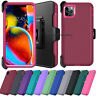 """For iPhone 11 Pro Max 5.8/6.1/6.5"""" Shockproof Phone Case+Belt Clip Holster Cover"""