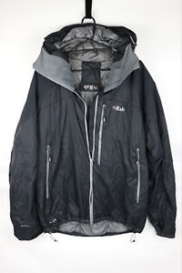 Rab Generator Alpine Mens Waterproof Jacket Outdoor Coat Black L Damaged