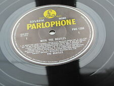 WITH THE BEATLES  UK LP 1981  BLACK & YELLOW PARLOPHONE MONO PRESSING