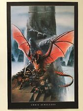 THE RED DRAGON CHALLENGE BY CHRIS ACHILLEOS, AUTHENTIC 1999  POSTER